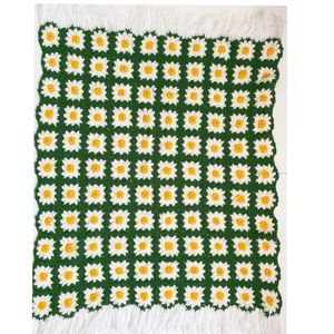 Patchwork crochet Afghan Daisy granny square throw
